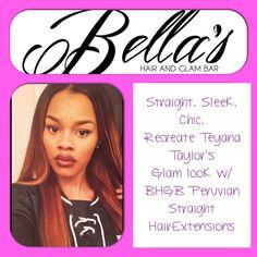 Teyana Taylor is rocking beautiful straight locks! Recreate this look with 100% Virgin Human Hair from Bella's Hair & Glam Bar.....coming soon!!!!