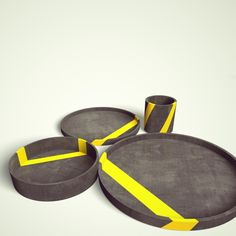 Diploma project - Concrete tableware! by Ann-Christin Zaske, via Behance