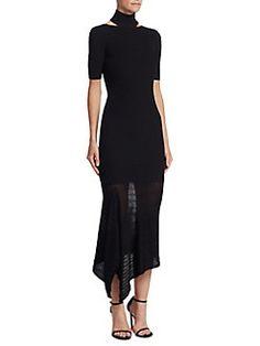 Cushnie et Ochs - Turtleneck Asymmetrical Dress
