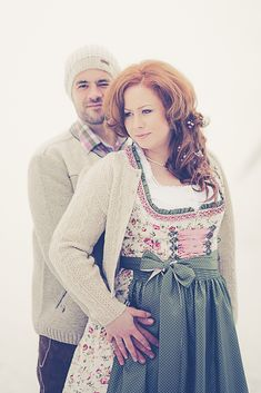 Ein Brautpaar in Tracht - ganz romantisch auf dem Nebelhorn