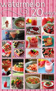 These 20 Watermelon Recipes To Enjoy This Summer are amazing!! This is one of my favorite fruits to pick up at our local farmers market!