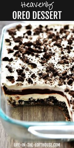 Heavenly OREO Dessert is truly heavenly! This dessert is a winner! Diy Dessert, Dessert Oreo, Oreo Dessert Recipes, Easy Oreo Recipes, Oreo Cookie Desserts, The Best Dessert Recipes, Recipes With Oreos, Recipes Dinner, Potato Recipes