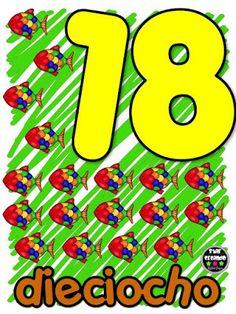 Números del 12 al 20 ~ Educación Preescolar                              …
