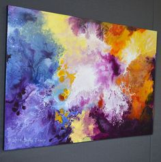 Abstract painting, original painting, 24x36 inches, STELLAR NURSERY by Sally Trace