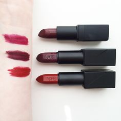 NARSissist Lipstick~From the top down: Scarlette Empress, Liv & Olivia