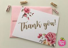 Thank you cards Set of 10 note cards with envelopes personalized girl stationary stationery set note cards thank you floral. Thank U Cards, Thank You Gifts, Note Cards, Personalized Thank You Cards, Personalized Stationery, Calligraphy Cards, Thank You Caligraphy, Hand Lettering Alphabet, Stationery Set