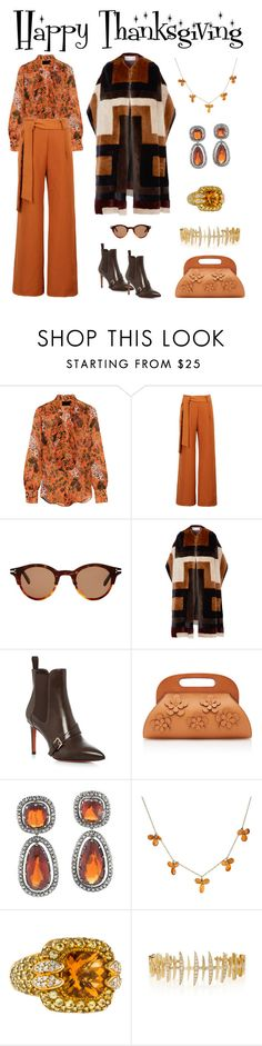 """Happy Thanksgiving"" by karen-galves on Polyvore featuring J.Crew, WithChic, CÉLINE, Gabriela Hearst, Santoni, Michael Kors, Sonia B. and Kamushki"