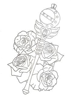 magical girl wand drawing png - Google Search