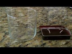 DIY: How To Remove & Reuse Left Over Candle Wax Out of a Glass Container - YouTube