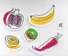 #тату #татуировка #татуэскиз #эскиз #домашняятатуировка #графика #сочность #фрукты #цвет #банан #гранат #киви #лимон #перец #tattoo #tattoosketch #sketch #hometattoo #color #fruits #banana #granat #kiwi #lemon #pepper #mellowness