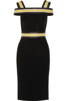 Christopher Kane Off-the-shoulder striped stretch-jersey dress | NET-A-PORTER