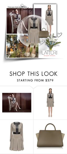 """""""Lattori 7"""" by followme734 ❤ liked on Polyvore featuring Lattori, ZAC Zac Posen, Kurt Geiger, dress, dresses and lattori"""