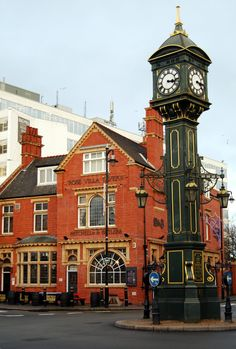 The Clock Tower and Rose Villa Tavern, Jewellery Quarter, Birmingham.