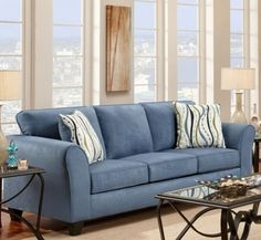 Lehigh Sofa in Patriot Blue, 195003-PB by Chelsea Home Furniture by Chelsea Home Furniture | BizChair.com