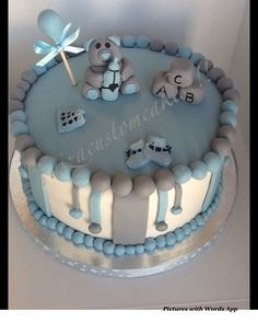 Baby boy cake!!