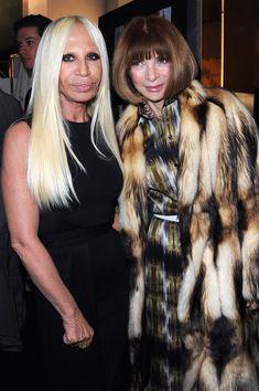 Anna Wintour and Donatella Versace Photo - Versace: Front Row - Paris Fashion Week Haute Couture S/S 2012
