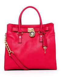 69ec800a8766 ShopStyle: MICHAEL Michael Kors Hamilton Large Tote, Lacquer Pink- love  this color update!
