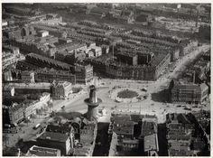 Oostplein, voor 1927. De gasfabriek is nog zichtbaar. Deze is gesloopt in 1927.