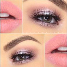 Gorgeous Soft Pink and Lavender Look With Makeup Geek Eye Shadows and Noyah Cosmetics Lipstick!-See this and similar makeup - Gorgeous Soft Pink and Lavender Look With Makeup Geek Eye Shadows and Noyah Cosmetics Lipstick! Eye Makeup Tips, Makeup Goals, Makeup Geek, Makeup Inspo, Makeup Inspiration, Makeup Ideas, Makeup Tutorials, Makeup Hacks, Hooded Eye Makeup