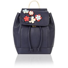 Accessorize Katie Mini Floral Backpack ($59) ❤ liked on Polyvore featuring bags, backpacks, flower print backpack, drawstring bag, mini bag, day pack backpack and mini backpack