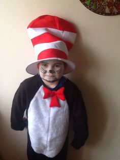 My son as cat in the hat.