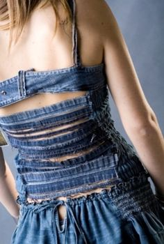 Denim dress, with rip's at the back!!!