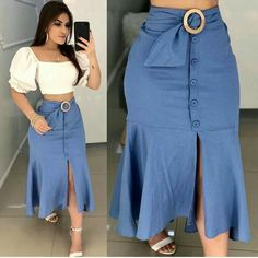 Professional Office Wears For Pretty - Looks com saias - Nahen Plus Size Maxi Dresses, Plus Size Outfits, Casual Dresses, Pencil Skirt Outfits, Latest African Fashion Dresses, Two Piece Dress, Look Chic, Clothes For Women, Happy Sun