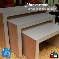 ¿Cómo construir mesas de centro apilables? #Sodimac #Homecenter #HUM #D