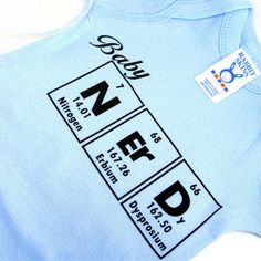 Baby Clothes Periodic Table Science Onesie  Blue by ShopGibberish, $14.00