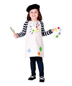 Look what I found on #zulily! White Artist Dress-Up Set - Toddler & Girls by Dress Up America #zulilyfinds