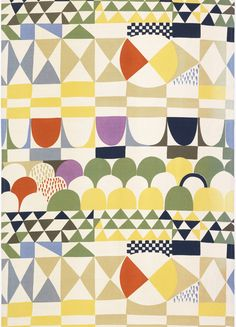Josef Frank, Textile design Bows, 1929/1960. Sweden.  Bows was produced in 1960 after an early design for a carpet for Haus & Garten fro...