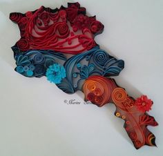 Quilled map of Armenia Armenian History, Arm Art, Concept Art, Images, Culture, Etsy, Country, Photos, Handmade