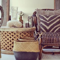 .Mixed patterns and textures for an interesting display
