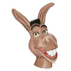 Shoply.com -Shrek Donkey Wonderful Machine Embroidery Design in 4 sizes - MUST SEE. Only $3.99