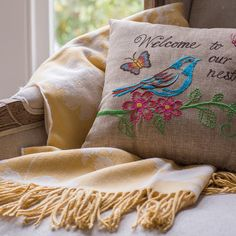 There's nothing like a pillow to let your guests know they're welcome to get comfortable.