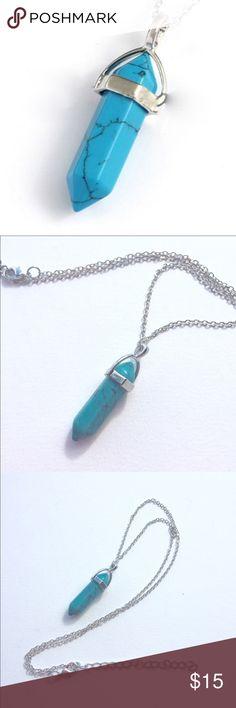"""Turquoise Gemstone Necklace Beautiful turquoise gemstone necklace! Length 20""""+ 3"""" extender. Jewelry Necklaces"""