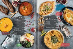 ann reus on Behance Pizza Menu Design, Food Menu Design, Restaurant Menu Design, Restaurant Identity, Resturant Menu, Restaurant Recipes, Salad Menu, Salad Box, Japanese Menu