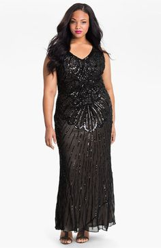 JS Collections Beaded Sleeveless Dress (Plus)   Nordstrom - New Year's Eve plus size options
