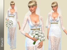 Created By Sofia wedding dress Created for: The Sims 4 This is the revised version of the wedding dress SOFIA published a few months ago. The longer skirt and breasts slightly covered makes. Sims 4 Wedding Dress, Wedding Dresses, Sims 4 Clothing, Female Clothing, Sims 4 Dresses, Sims4 Clothes, Sims 4 Characters, Marriage Dress, Elegant Dresses For Women