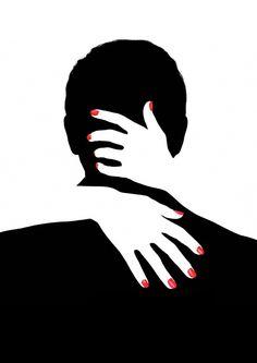 4a4449566018b9dec2e85f93cb286143.jpg (495×700)  patterned hands on black bag...