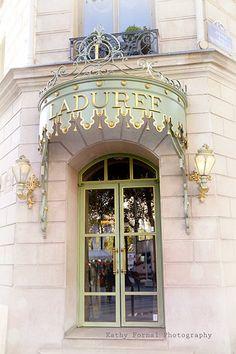 Laduree Paris - Champs Elysees French Macaron and Tea Shop -ShazB Laduree Paris, Paris Torre Eiffel, Front Door Entrance, Shop Fronts, Paris Photography, Champs Elysees, Paris Photos, Jolie Photo, Blue Aesthetic