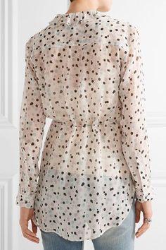 Maiyet - Printed Silk-gauze Blouse - White - US10
