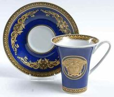Rosenthal Medusa Blue Cup Saucer 8942433 | eBay