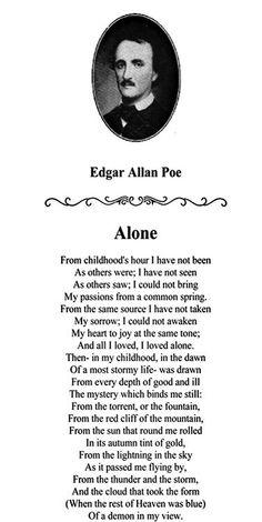 Edgar Allan Poe   Alone