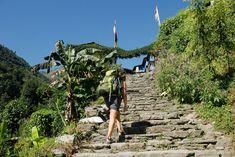 Aufstieg in Nepal nach Nayapul
