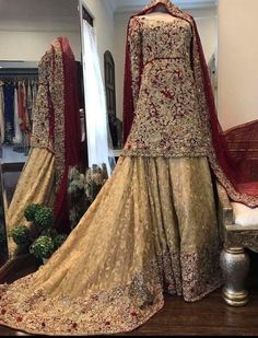 For more information 03215535198 We can Customize any outfit the way you want including Color Size Embroidery. Pakistani Wedding Outfits, Pakistani Wedding Dresses, Bridal Outfits, Indian Dresses, Indian Outfits, Modest Dresses, Pretty Dresses, Walima Dress, Bridal Dress Design