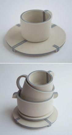 Ceramic Tableware, Ceramic Plates, Ceramic Art, Coffee Type, Ceramic Design, Espresso Cups, Porcelain Tile, Tea Set, Cup And Saucer