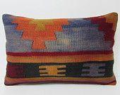 decorative pillow 16x24 modern home decor kilim pillow outdoor pillow cover long throw pillow turkish pillowcase kilim pillow case rug 25570