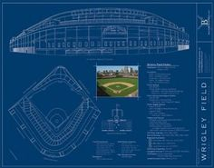 wrigley field blueprint