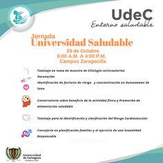 Jornada Universidad Saludable Campus Zaragocilla #Unicartagena #Bienestar Map, Risk Factor, Physical Activities, Healthy Nutrition, University, Wellness, Universe, Location Map, Maps